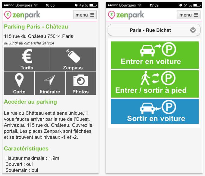 application zenpark