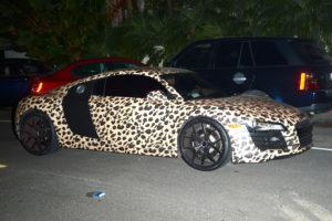 L'Audi R8 de Justin Bieber couleur léopard!