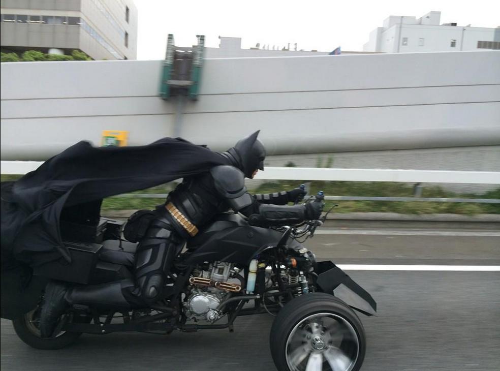 Batman et sa moto