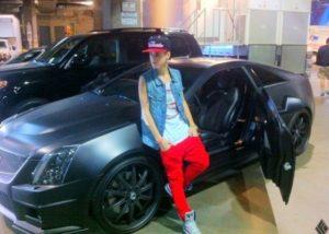 La Cadillac CTS-V de Justin Bieber