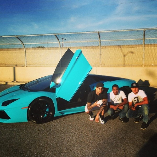 Chris Brown friends aventador