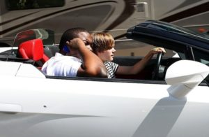 Sean Kingston et Justin Bieber en Lamborghini Aventador