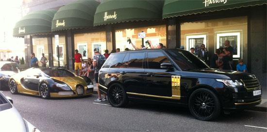 range rover black gold