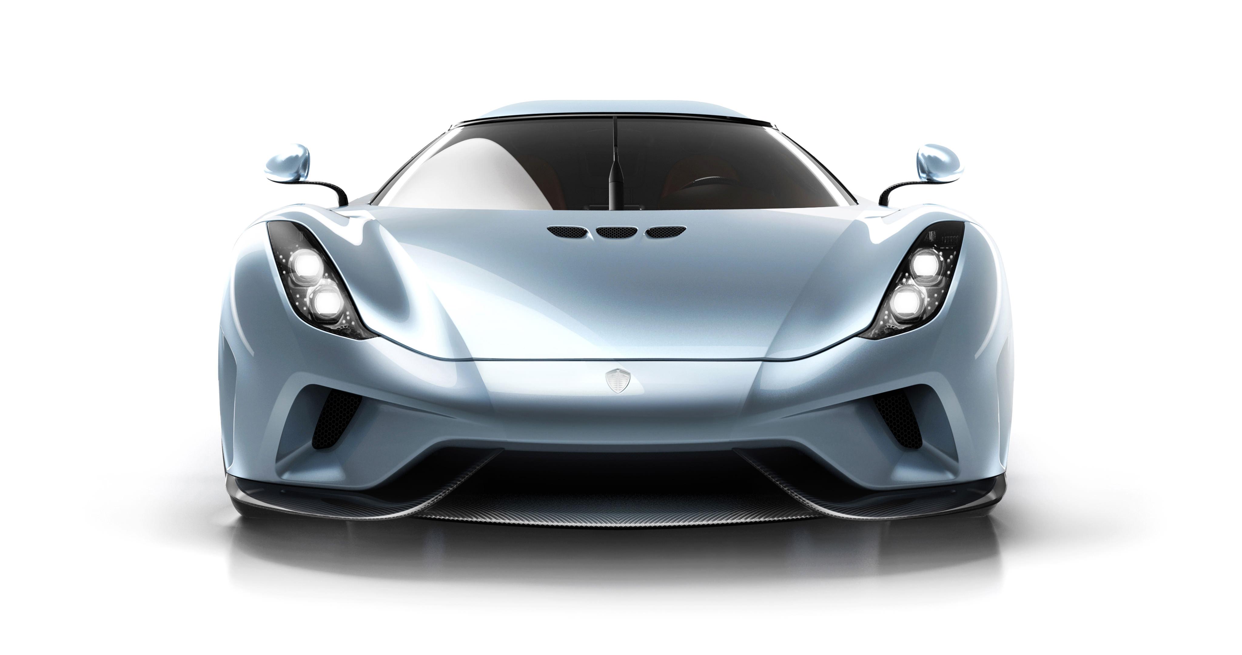 Voiture de luxe: Regera Koenigsegg de face