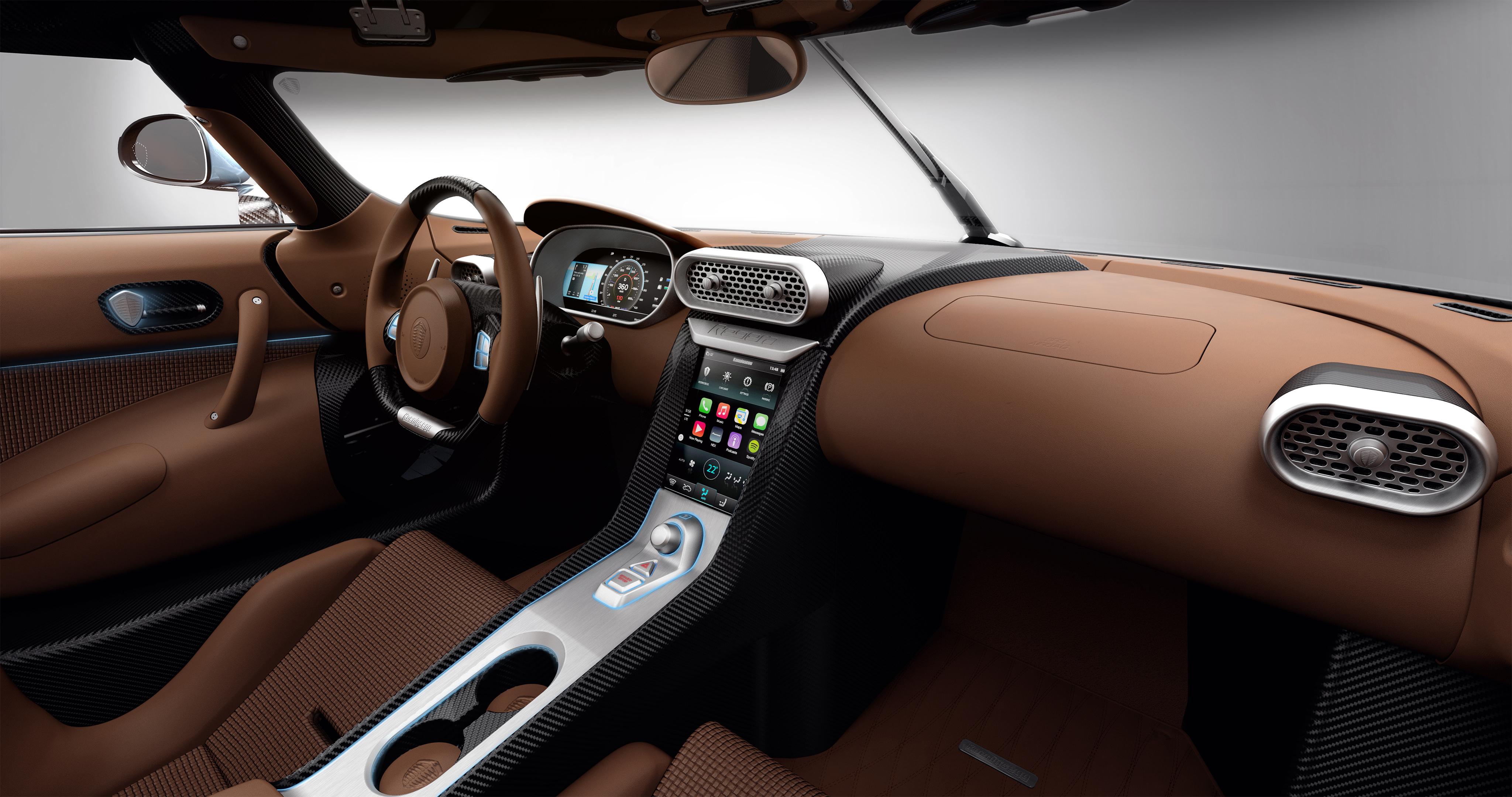 Voiture de luxe: Intérieur Koenigsegg Regera